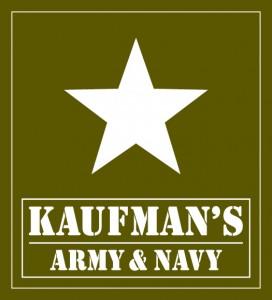 Kaufman's Army & Navy logo