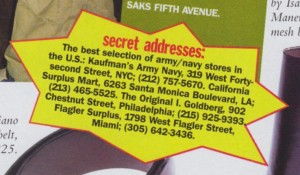 Vogue Sep 1 1996 Secret Address