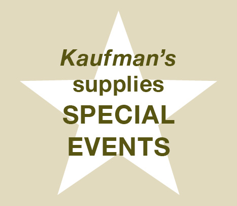 Kaufman's supplies Special Events